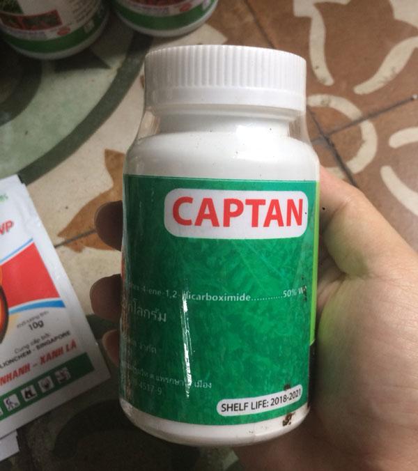 thuốc captan trị bệnh cho lan
